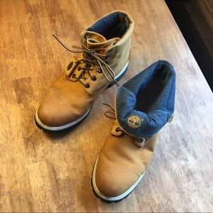 Timberland Leather Rollover Boots